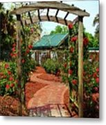 Rose Garden Entrance Metal Print