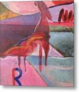 Rose Horse Metal Print