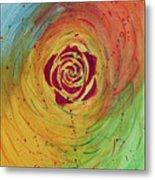 Rose In Vorteks Metal Print