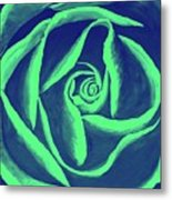 Rose Mint Metal Print