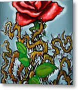 Rose N Thorns Metal Print