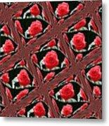 Rose Tiles Metal Print