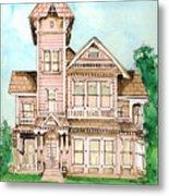 Rose Victorian Inn - Arroyo Grande Ca 1886 Metal Print
