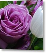 Rose With Tulip Metal Print