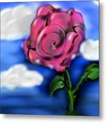 Rose Within The Clouds Metal Print
