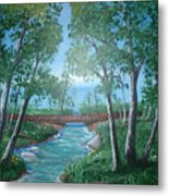 Roseanne And Dan Connor's River Bridge Metal Print