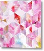 Roselique Cubes Metal Print