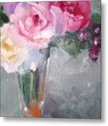 Roses And Berries Metal Print