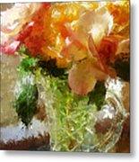 Roses And Crystal Metal Print