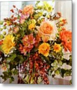 Roses And  Flowers  Metal Print