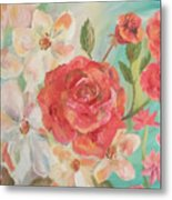 Roses And Flowers Metal Print