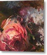 Roses And Lilacs Metal Print