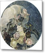 Roses And Orchids Metal Print
