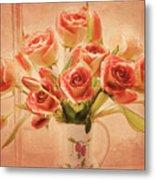 Roses And Tulips Metal Print