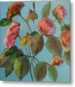 Roses And Wildflowers Metal Print