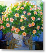 Roses At Table Bay Metal Print