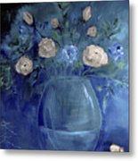 Roses For Him Painting Metal Print