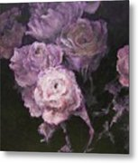 Roses In Mauve Metal Print