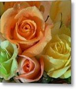 Roses In Pastel Metal Print