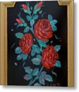 Roses In The Classic Style Metal Print