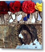 Roses On A Shrine Metal Print