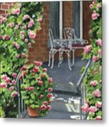 Roses On High St Metal Print