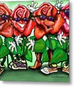 Roses Party Metal Print