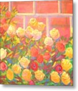 Roses The Gift Of Lovers. Metal Print