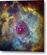 Rosette Nebula Ngc 2244 In Monoceros Metal Print
