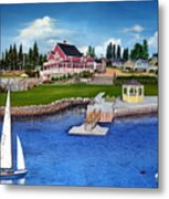 Rosewood Cottages Nova Scotia Metal Print