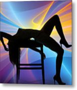 Rosie Nude Fine Art Print In Sensual Sexy Color 4689.02 Metal Print