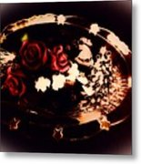 Rosses On A Flowing Dish Metal Print