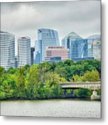 Rosslyn Distric Arlington Skyline Across River From Washington D Metal Print
