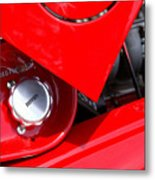 Rosso Metal Print