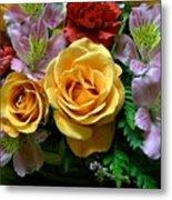 Rosy Bouquet Metal Print