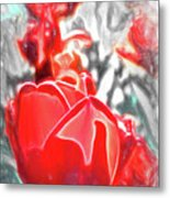 Rosy Swirl Metal Print