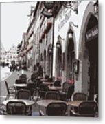 Rothenburg Cafe - Digital Metal Print