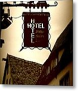 Rothenburg Hotel Sign - Digital Metal Print