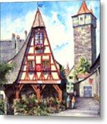 Rothenburg Memories Metal Print