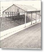 Rotherham - Millmoor - Millmoor Lane Stand 1 - Bw - April 1970 Metal Print