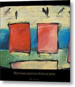 Rothko Meets Hitchcock - Poster Metal Print