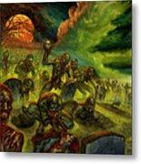 Rotten Souls Taint The Land Metal Print