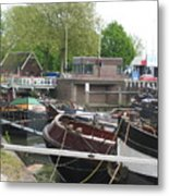 Rotterdam Silence By The Docks Metal Print