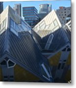 Rotterdam - The Cube Houses And Skyline Metal Print