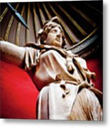 Rotunda Colossals 2 Of 3 Vatican Museum Ancient Statues Rome Italy Metal Print by Andy Smy