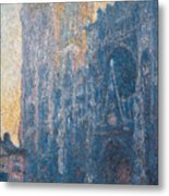 Rouen Cathedral, The Portal, Morning Metal Print