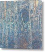 Rouen Cathedral, The Portal, Morning Light Metal Print