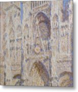 Rouen Cathedral, The Portal, Sunlight Metal Print