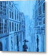 Rouen In The Rain Metal Print