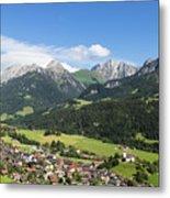 Rougemont Village In Switzerland Metal Print